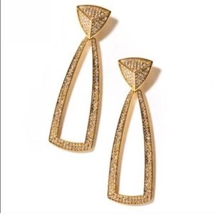 House of Harlow doorbell earrings